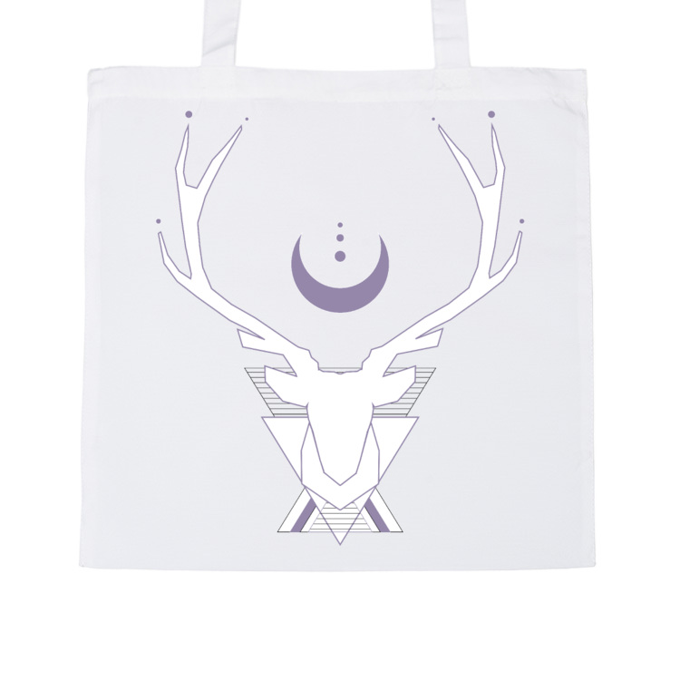 Sacred stag in white